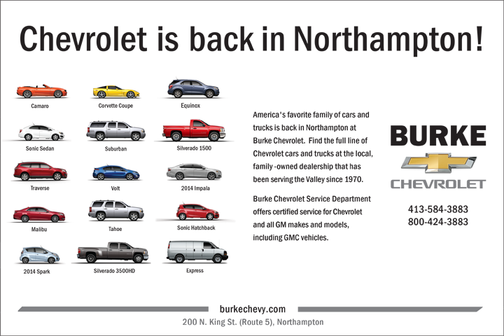 Burke Chevy-AD_Chevrolet is back...