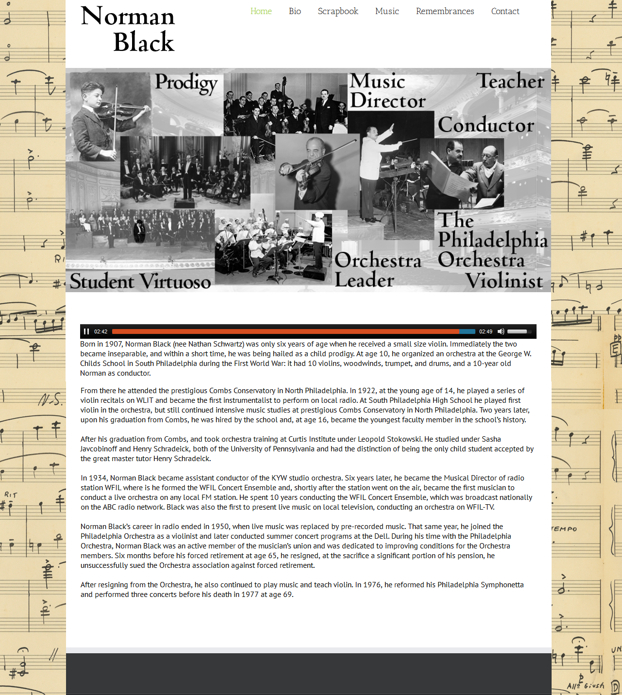 Norman Black-Web-Home Page