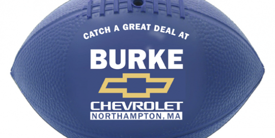 Burke Chevy-LOGO on football
