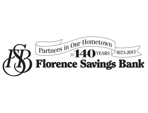 Florence Savings Bank  LOGO: 140th B&W