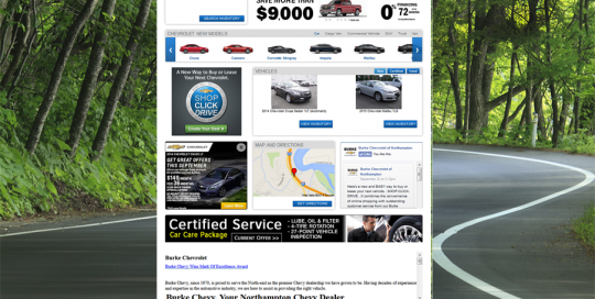 Burke Burke Chevy-Home Page Design-Cruzes Offer