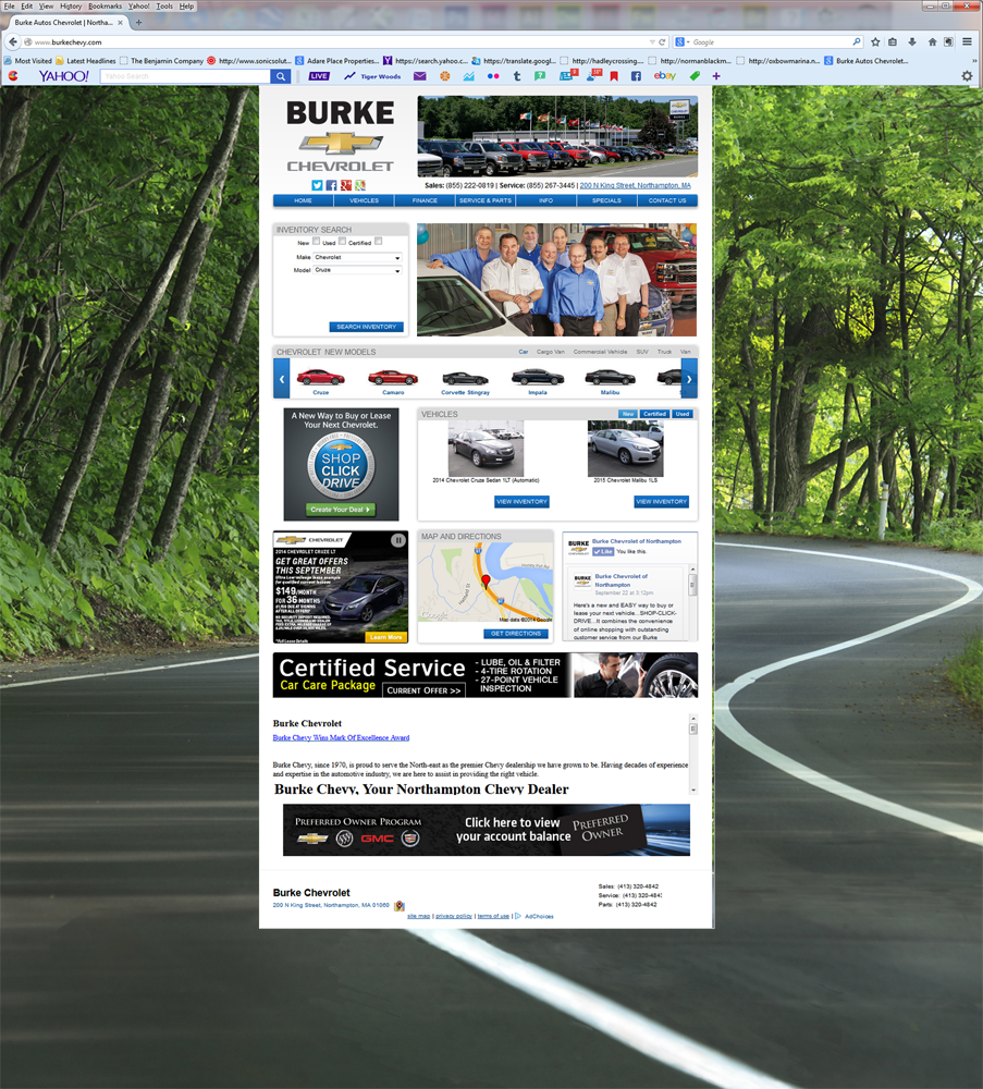 Burke Chevy-Home Page Design-Staff