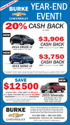 Burke Chevrolet AD-Year End Event