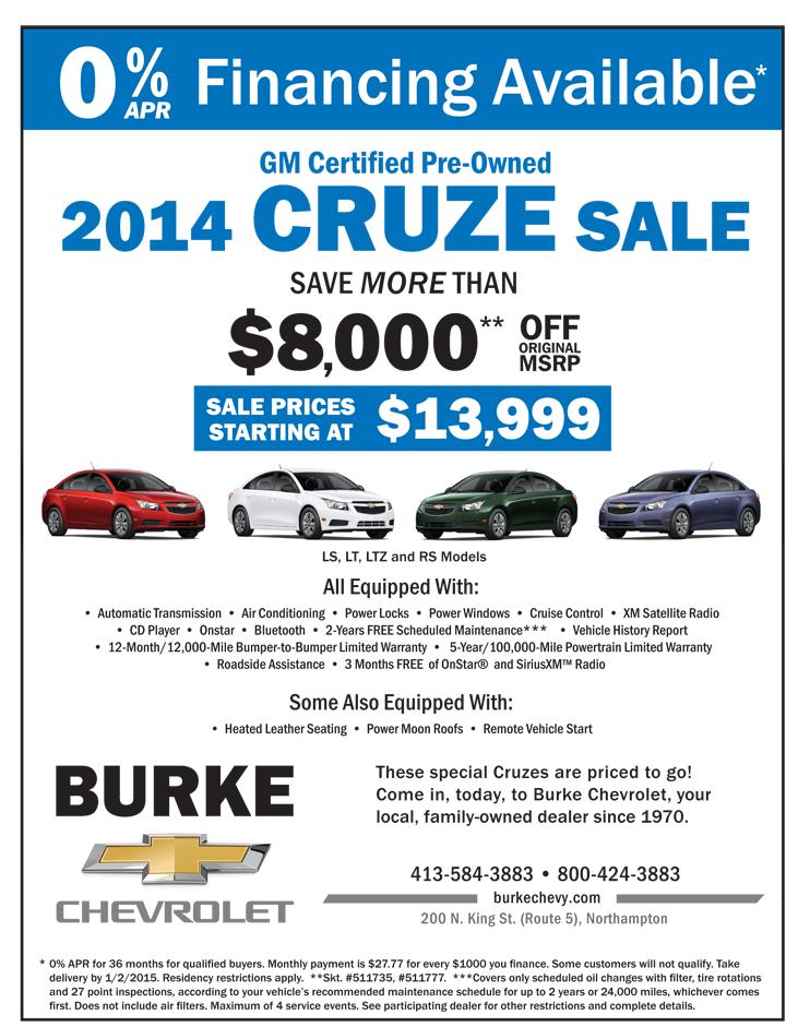 Burke Ad Cruze Sale