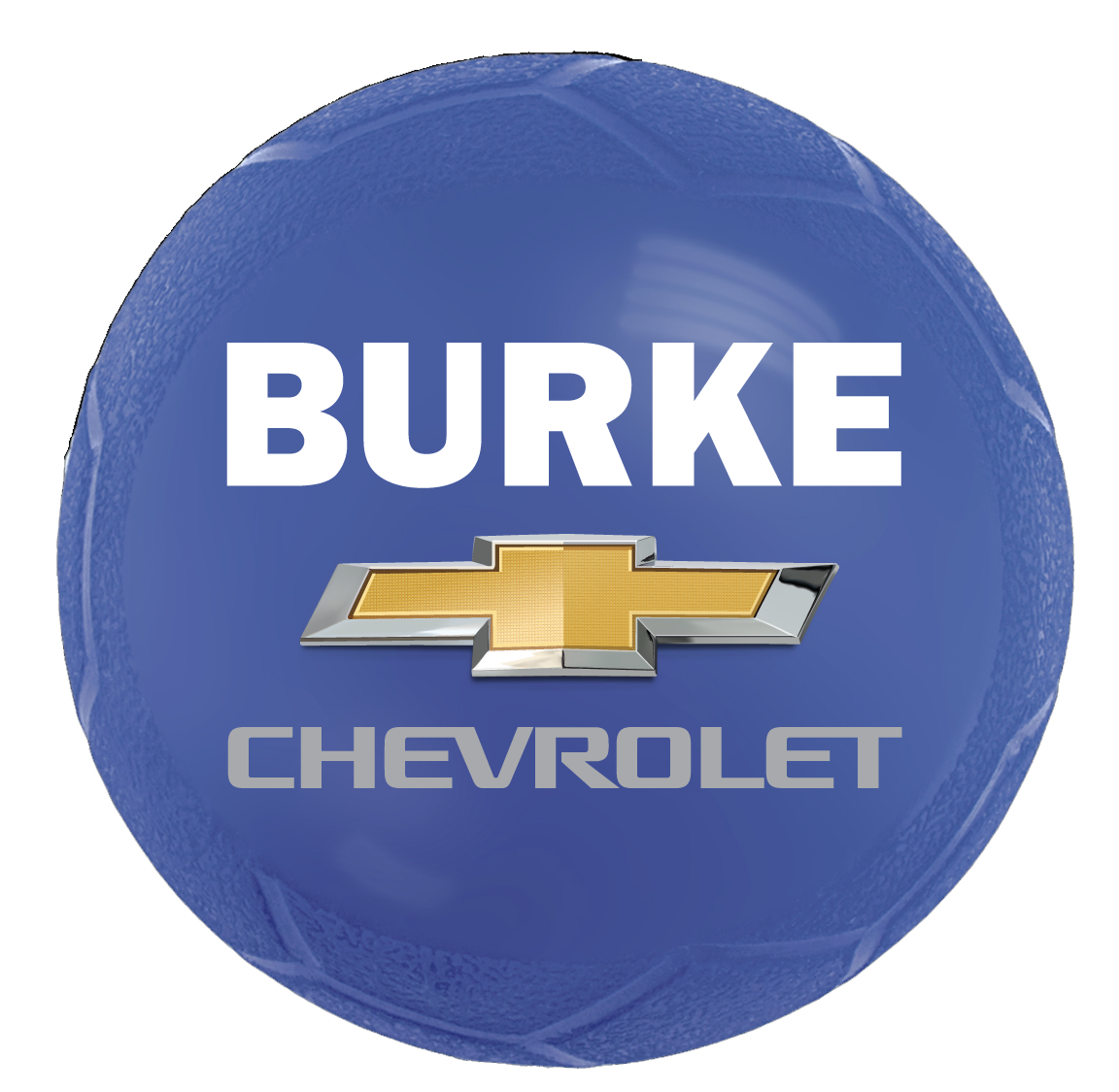 BLUE Soccer Ball with Burke LOGO