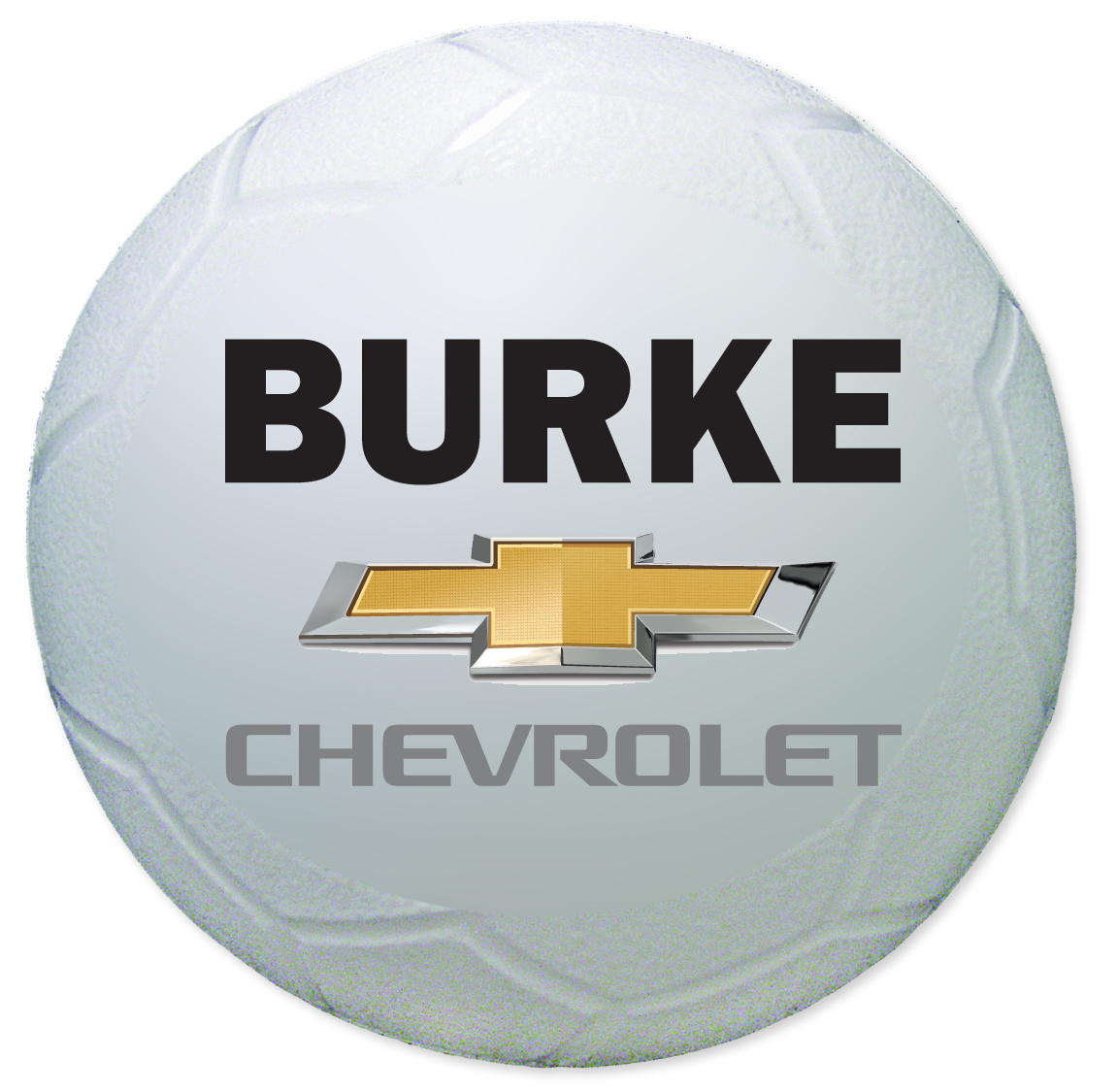 White Soccer Ball with Burke LOGO